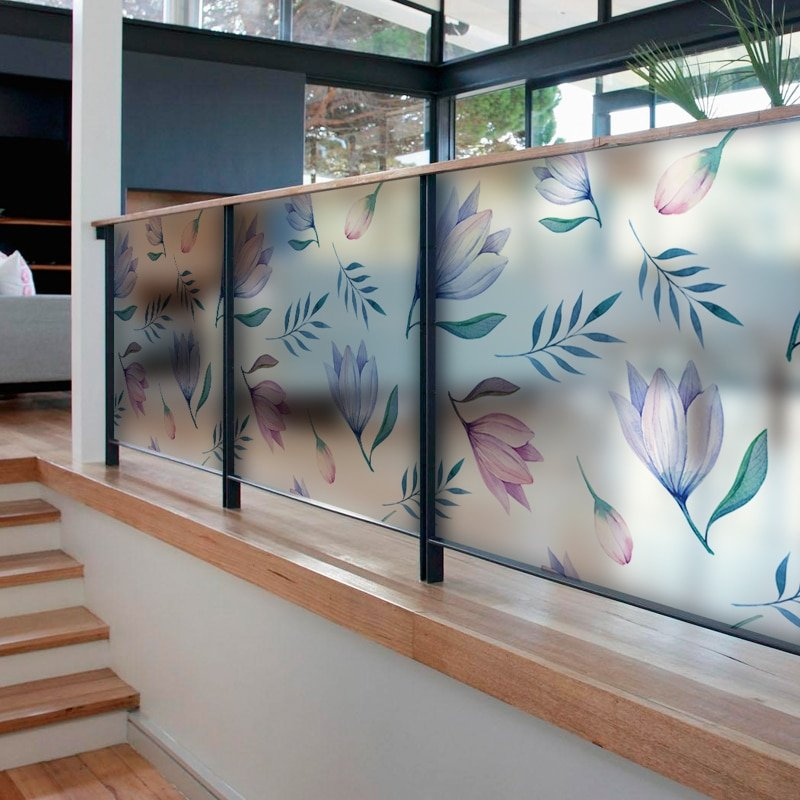 наклейка на стекло цветы