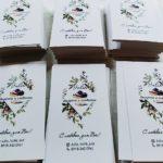 визитки с цветами