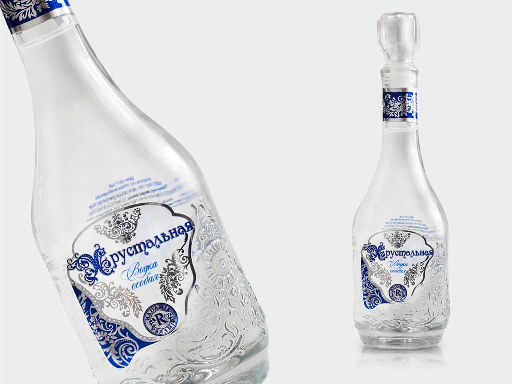 этикетка на водку